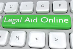 Legal Aid Online concept Royalty Free Stock Images