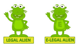 Legal Alien Vs E-legal Royalty Free Stock Photography