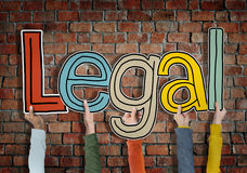 Legal Allowed Rightful Approve Bricks Wall Hands Up Hold Concept Royalty Free Stock Images