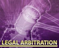 Legal arbitration Abstract concept digital illustration Stock Images