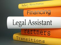 Legal Assistant - Books Stock Images