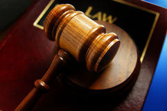 legal book and gavel Stock Image