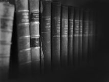 Legal books background. A collection of law books romanian Stock Photography