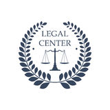 Legal center vector icon law justice scales symbol Stock Photos