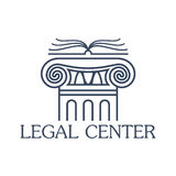 Legal center vector isolated icon or emblem Stock Photo