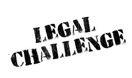 Legal Challenge rubber stamp Royalty Free Stock Images