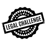 Legal Challenge rubber stamp Stock Photography
