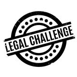 Legal Challenge rubber stamp Stock Image
