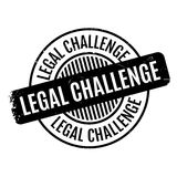 Legal Challenge rubber stamp Stock Images