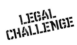 Legal Challenge rubber stamp Royalty Free Stock Photo