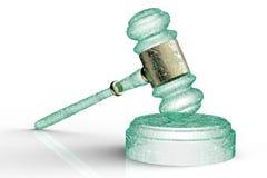 Legal computer judge concept, cyber gavel,3D illustration Stock Image