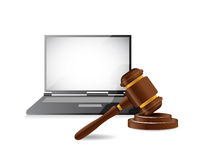 Legal computer law concept illustration design Stock Photos