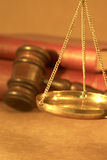 Legal concept. With scales of justice. gavel and old law books