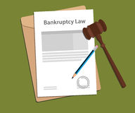 Legal concept of bankcruptcy law illustration stock illustration