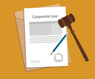 Legal concept of company law illustration. Vector Stock Photos