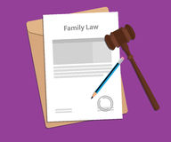 Legal concept of family law illustration Stock Photography