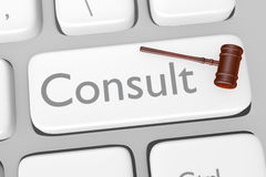 Legal Consult Button On Keyboard Stock Photo