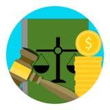 Legal consultation fee icon royalty free illustration