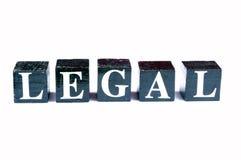 Legal contra ilegal Fotos de archivo libres de regalías