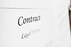 Legal contract Royalty Free Stock Images