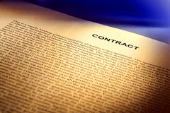 Legal Contract Document in Common Law English Stock Photo