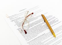 Legal contract papers Stock Images