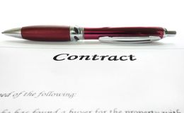 Legal contract Stock Photos