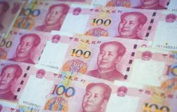 Legal Currency of the People`s Bank of China stock images