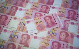 Legal Currency of the People`s Bank of China stock photo