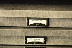 Legal document boxes Royalty Free Stock Photography