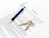 Legal document for sale Stock Image