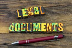 Free Legal Documents Business Office Contract Lawyer Agreement Stock Images - 214345434