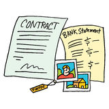 Legal evidence contract documents. An image of a legal evidence contract documents Royalty Free Stock Photo