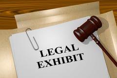 Legal Exhibit concept. 3D illustration of `LEGAL EXHIBIT` title on legal document Stock Images