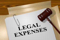 Legal Expenses - legal concept. 3D illustration of `LEGAL EXPENSES` title on legal document Stock Images