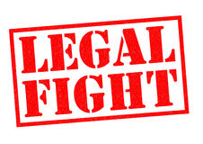 LEGAL FIGHT. Red Rubber Stamp over a white background Royalty Free Stock Photo