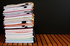 Legal Folders on Black Background Royalty Free Stock Photos