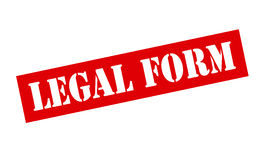 Legal form Royalty Free Stock Photo