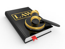 Legal gavel and law book Stock Images