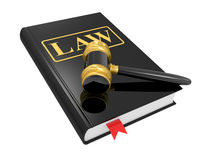Legal gavel and law book Stock Photo