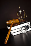 Legal gavel on a law book Royalty Free Stock Images