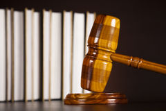 Legal gavel on a law book Royalty Free Stock Photos