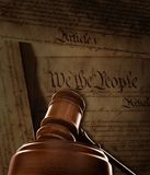 Gavel and US Constitution background Royalty Free Stock Photography