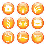 Legal Icon Set Royalty Free Stock Photos