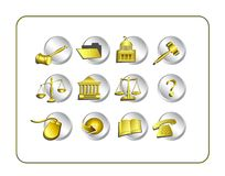 Legal Icon Set with clipping paths Stock Photo