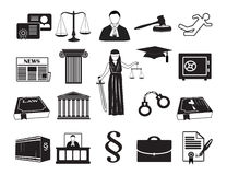 Legal icon set law attorney Royalty Free Stock Photography