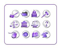 Legal Icon Set - Purple-Silver Royalty Free Stock Image