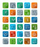 Legal icons, line, color. Stock Images