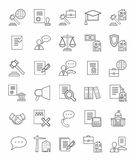 Legal icons, linear, monotone. Royalty Free Stock Images