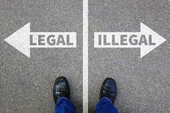 Legal illegal businessman business man concept decision prohibit Stock Photography